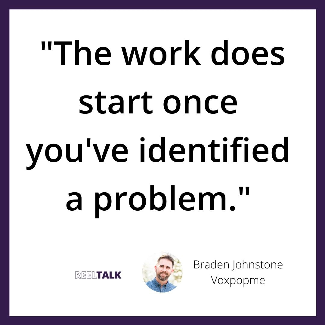 """""""The work does start once you've identified a problem."""""""