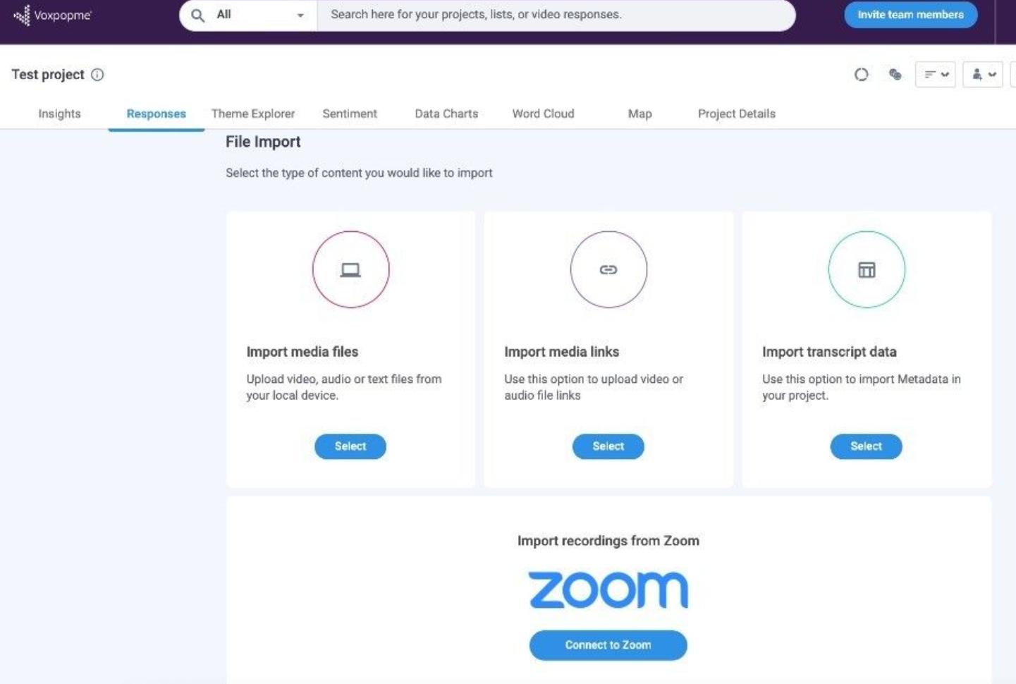 voxpopme zoom integration